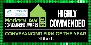 Conveyancing Firm Of The Year Midlands Logo